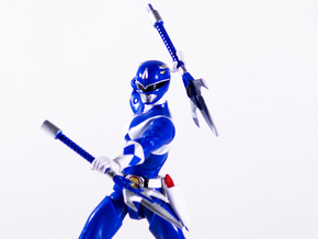 Mighty Blue Accessory - Power Rangers  in White Natural Versatile Plastic