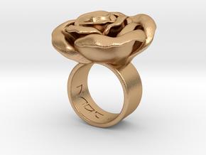 Rosa solitaria_L in Natural Bronze