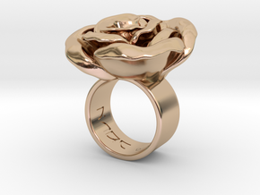 Rosa solitaria_L in 14k Rose Gold Plated Brass