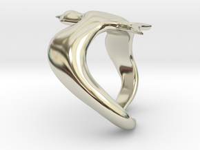 Bird On Wing Ring S 6 us in 14k White Gold