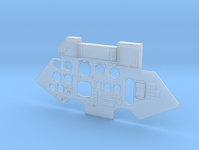 Instrument Panel front Su-27 Carf Models  in Smooth Fine Detail Plastic