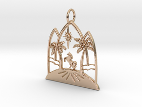 Desert Unicorn Pendant in 14k Rose Gold: Medium