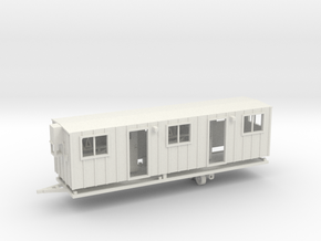 Construction Trailer Double Door 1-87 HO Scale in White Natural Versatile Plastic