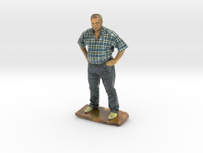 figurine 1 guy test in Glossy Full Color Sandstone