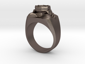 Summoner's Ring in Polished Bronzed Silver Steel
