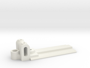 15mm Wide, 50mm long Front End, standard guide in White Natural Versatile Plastic