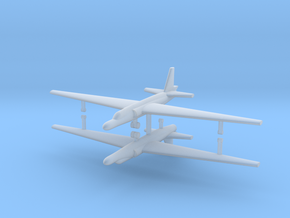 1/500 U-2A Reconnaissance Aircraft (x2) in Smooth Fine Detail Plastic