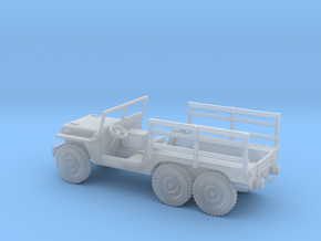 1/100 Scale 6x6 Jeep MT Cargo in Smooth Fine Detail Plastic