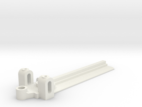 25mm Wide, 75mm long Front End, extended guide in White Natural Versatile Plastic