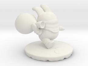 Nabbit from New Super Mario Bros U in White Natural Versatile Plastic: Medium
