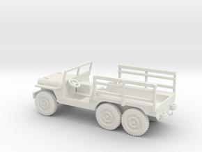 1/72 Scale 6x6 Jeep MT Cargo in White Natural Versatile Plastic
