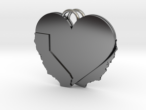 California Heart Earrings in Antique Silver
