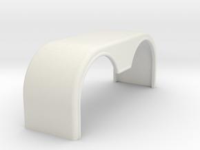 Rear Italeria  fender in White Natural Versatile Plastic