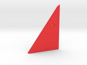 Prism P7 - Left Dock Wall (Top Half) (PART) in Red Processed Versatile Plastic