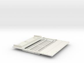1/16 Sherman M4a3 engine deck in White Natural Versatile Plastic