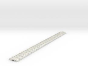 p-9stxs-slim-flexi-tram-track-100-x24-1a in White Natural Versatile Plastic