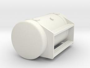 Peterbilt 377SBA Fuel Tank in White Natural Versatile Plastic