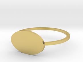 Ellipse 19.84mm in Polished Brass