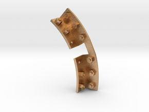 Quarry Hunslet Smokebox Tank Brackets 2Bolt SM32 in Natural Bronze