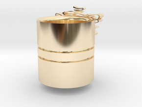 Christmas-napking holder in 14K Yellow Gold