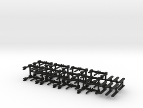 HO Scale Reading T1 suspension parts in Black Natural Versatile Plastic