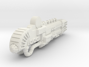 Titanicus Scaled Gun-Warlord Sunfury  in White Natural Versatile Plastic