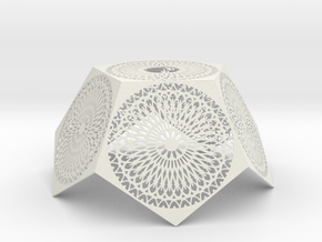 lampshade_1-2_dodecahedron_78 in White Natural Versatile Plastic