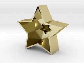 -star Hanging decoration in 18K Yellow Gold: Medium