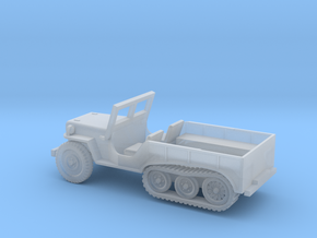 1/100 Scale Halftrack Jeep in Smooth Fine Detail Plastic