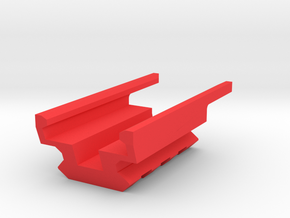 3-Slots Bottom Picatinny Rail for USP Pistol in Red Processed Versatile Plastic