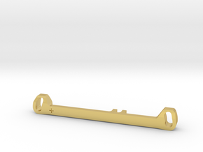 MC3 Wide Front End Stability Kit- Toe In Bar (#1) in Polished Brass