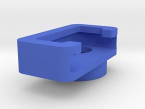 Binocular-phone attachment - Digiscope Left Half in Blue Processed Versatile Plastic