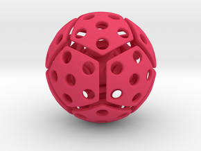 bouncing cat toy ball perforated size M in Pink Processed Versatile Plastic: Medium