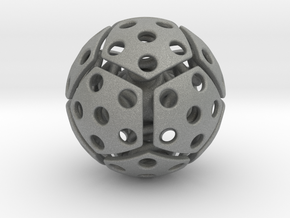 bouncing cat toy ball perforated size M in Gray Professional Plastic: Medium