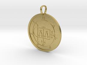Malphas Medallion in Natural Brass