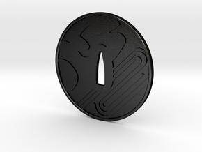 Tsuba Furyukan dojo   in Matte Black Steel