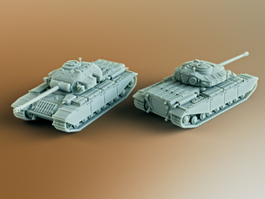 FV201 (A45) British Universal Tank Scale: 1:87 in White Natural Versatile Plastic