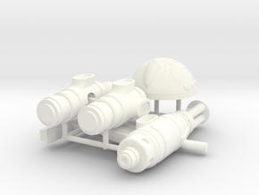 SPACE LEGION HEAVY GUNNER  in White Processed Versatile Plastic