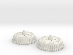 1:8 Buick Rear Fin Drums in White Natural Versatile Plastic