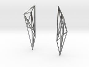 Geode Earrings in Fine Detail Polished Silver