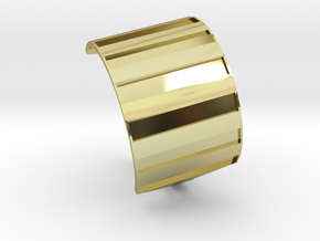 Shield ring in 18k Gold Plated Brass