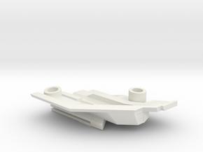 1/1000 Malachowski class - Left Lower Stern in White Natural Versatile Plastic