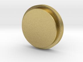 Billet Box Rev4 Fire Button concavo  v.1 in Natural Brass