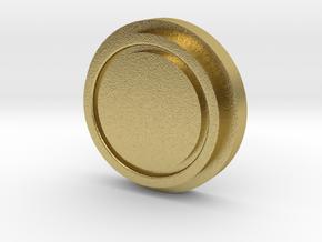 Billet Box Rev4 Fire Button var2 in Natural Brass