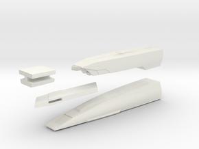 1/1000 Malachowski class - Left Nacelle in White Natural Versatile Plastic
