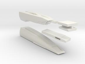 1/1000 Malachowski class - Right Nacelle in White Natural Versatile Plastic