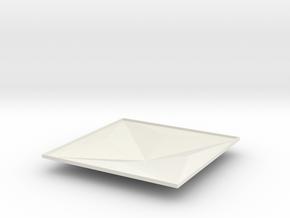 3d tile_2_B_yellow in White Natural Versatile Plastic