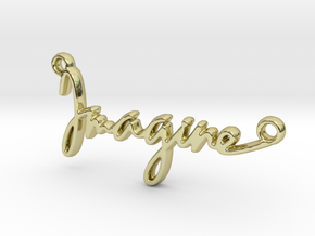 """""""Imagine"""" a strong word, a universal song. in 18K Yellow Gold"""