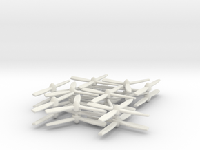 Propellers 20, 24, 28mm in White Natural Versatile Plastic: Medium