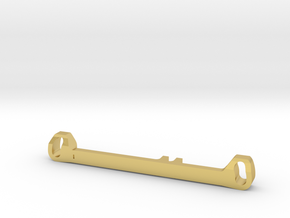 MC3 Wide Front End Stability Kit- Toe Out Bar in Polished Brass